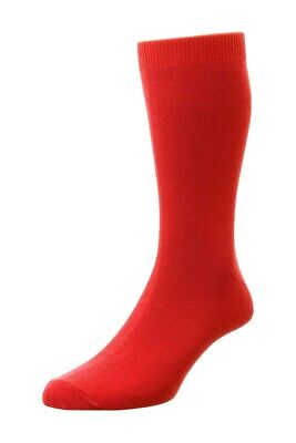 £3.25 • Buy Mens HJ Hall Classic HJ48 Cotton Rich Bright Red Coloured Socks UK 6-11
