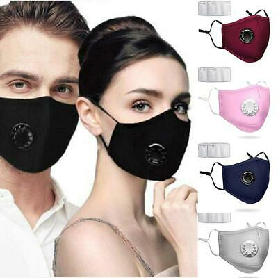 £2.89 • Buy Cotton Reusable/Washable ANTI-FOG Respirator Vent Face Mask With 2 PM2.5 Filters