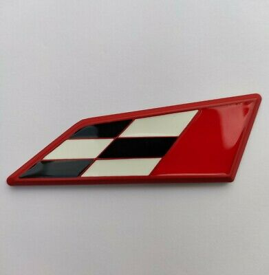 £6.65 • Buy Red Chequered Flag Metal Racing Badge For Peugeot RCZ 108 208 2008 308 3008 508
