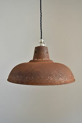 £17.49 • Buy Rusty Barn Pendant Light Industrial Style Workshop Hanging Ceiling Lamp RBLSR4