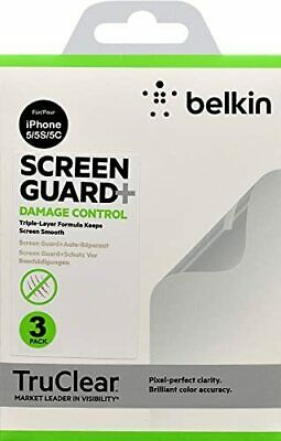 AU14.93 • Buy Belkin TruClear Screen Guard Protector Damaged Control For IPhone SE 5 5S 5C X3