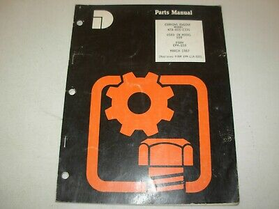 AU15.80 • Buy Dresser Cummins NTA-855-C335 Diesel Engine Parts Manual