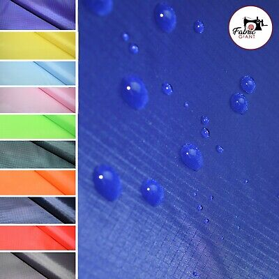 £3.80 • Buy Water Resistant Ripstop Fabric Lightweight 60 Wide Polyester Waterproof Material