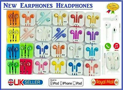£2.85 • Buy New Earphones  For EarPods HTC Sony Samsung Apple With Mic Colour Chrome 3.5mm