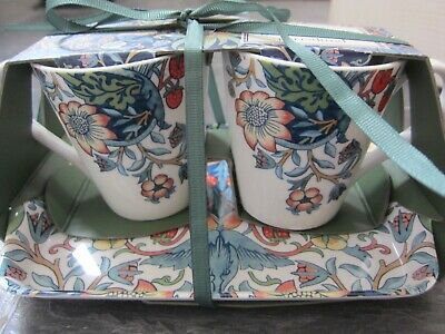 £12.99 • Buy Portmeirion/ Pimpernel Strawberry Thief 2 Mugs  And Tray Set New In Packaging