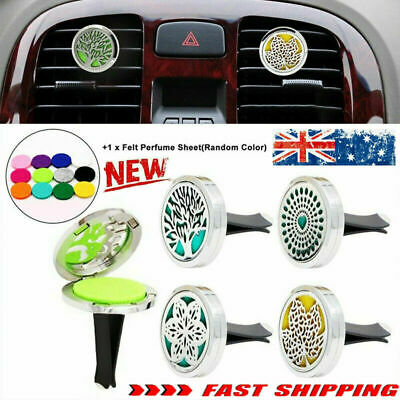 AU9.92 • Buy FRAGRANCE & ESSENTIAL OIL DIFFUSER Stainless CAR AIR VENT FRESHENER Aromatherapy