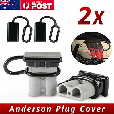 AU4.75 • Buy 2x Dust Cap For Anderson Plug Cover Style Connectors 50AMP Battery Caravn 12-24V