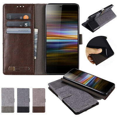 AU11.99 • Buy For Sony Xperia X XA Ultra 10 Plus Magnetic Flip Canvas Wallet Stand Case Cover