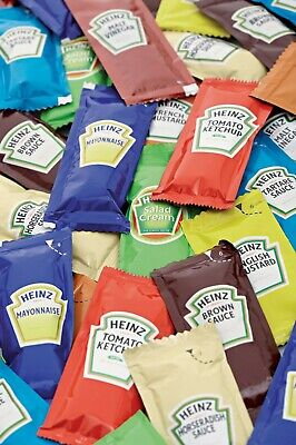 £7.65 • Buy Heinz Sauces Single Portion Sachets - Set Quantities Or Pick 'n' Mix Your Own!