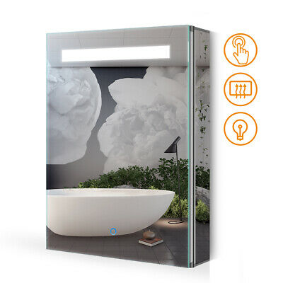 £125.99 • Buy LED Illuminated Bathroom Cabinet Mirror Wall Mounted With Demister Touch-Switch