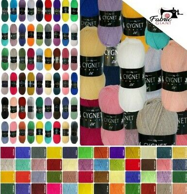 Cygnet DK Double Knit 100g Acrylic Knitting Yarn - Over 50 Shades • 2.55£