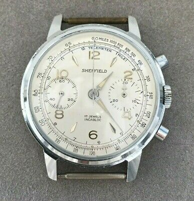 $ CDN604.59 • Buy VINTAGE SHEFFIELD CHRONOGRAPH 36MM Venus 188 WATCH