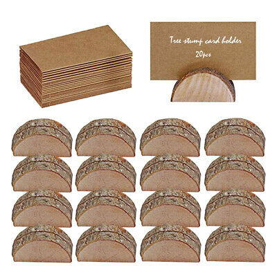 £11.99 • Buy 20Pcs Wooden Table Card Holder Stand Number Place Name Menu Party Wedding Decor+