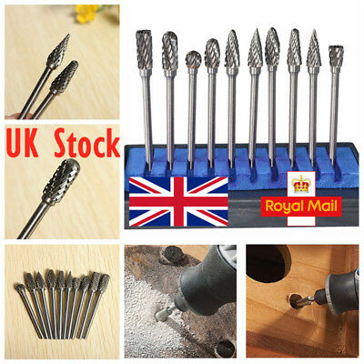 £8.68 • Buy 10pcs Tungsten Steel Carbide Burr Grinding Head Grinder Rotary Drill Wood Set