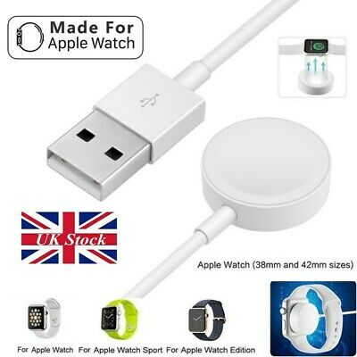 $ CDN8.11 • Buy UK Magnetic Charger Dock USB Cable Charger For Apple Watch IWatch Series 4/3/2/1