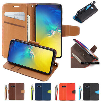 AU10.99 • Buy Wallet Leather Flip Case Cover For Samsung Galaxy S21 Ultra S20 Plus Note 10 20