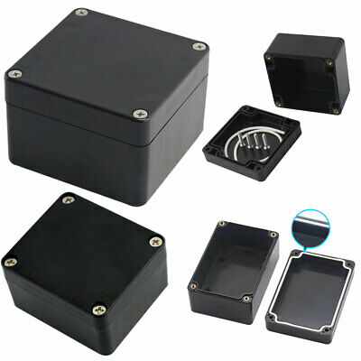 £5.78 • Buy ABS Black Plastic Electronics Project Box Enclosure Hobby  W/ Fixing Case Screws