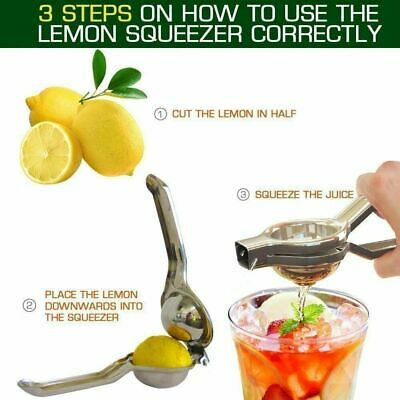 Lemon Lime Squeezer Juicer Stainless Steel With Bottle Opener Manual Hand Press  • 5£