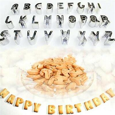 AU12.44 • Buy Alphabet Letter Number Fondant Cake Biscuit Baking Mould Cookie Cutters Stamp CZ