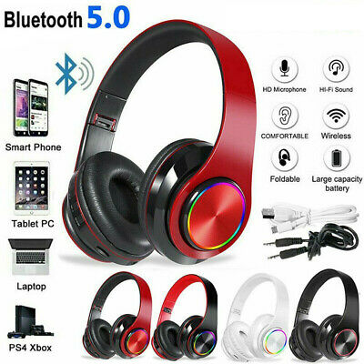 AU24.89 • Buy Wireless Bluetooth Headphones With Noise Cancelling Over Ear Stereo Earphones