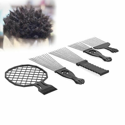 £9.67 • Buy Long Wide Tooth Hairdressing Pick Afro Comb Curly Hair Brush Styling Barber 5pcs