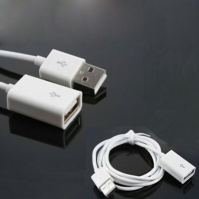 AU4.11 • Buy White 1m Usb 2.0 Type A Female To A Male Extension Cable Cord Lead  ME