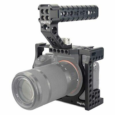 $ CDN104.74 • Buy MAGICRIG A7R3 Cage With Arri-type Locating Handle For Sony A7RIII /A7III /A7M3