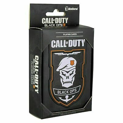 £3.95 • Buy Black Ops Call Of Duty Playing Cards Poker Full Deck & Metal Collectors Tin