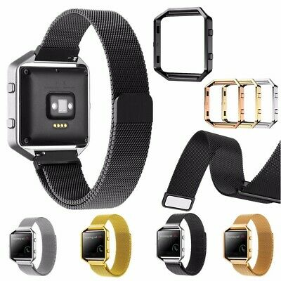 AU50.07 • Buy Replacement Large Size Metal Band Frame 235mm Wristband For Fitbit Blaze Watch