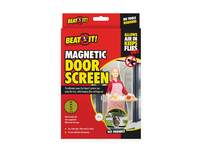 £6.95 • Buy Magnetic Door Fly Screen Mesh Fastening Magic Curtain Mosquito Bug Insect Net
