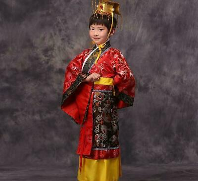 £23.19 • Buy Chinese Kids Boy's Han Clothing Emperor Prince Show Cosplay Robe Costum #10-8