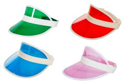 NEW Pub Golf/Casino Blue,Red,Pink Or Green Visor Hat -  Fancy Dress Accessories • 3.99£