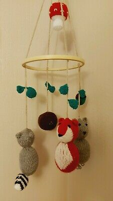 £9 • Buy Hand Made Knitted Nursery Mobile, Suitable Decoration For Baby And Child's Room.