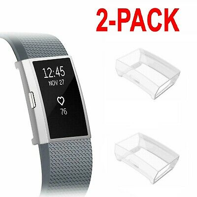 $ CDN12.17 • Buy 2 PCS Fitbit Charge 2 Screen Protector TPU Case Frame Shockproof Cover Shell
