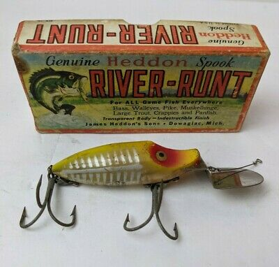 $ CDN31.32 • Buy Vintage Genuine Heddon River Runt Spook Go-Deeper Lure With Box