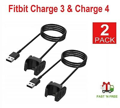 $ CDN10.74 • Buy 2 Pcs Fitbit Charge 3 & 4 Charger 3.3ft Replacement USB Charging Cradle Adapter