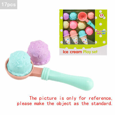 £9.25 • Buy 17pcs Kids Kitchen Ice Cream Play Set Pretend Play Cones Scoops Food Toy Playset
