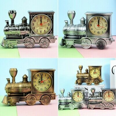 Train Model Cool Alarm Clock ABS Plastic Alarm Clock 3 Color Home Decoration • 9.13£