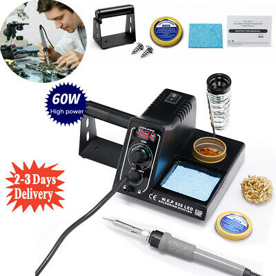£23.98 • Buy Soldering Iron Station Rework Kit Variable Stand Temperature Digital LED 60W