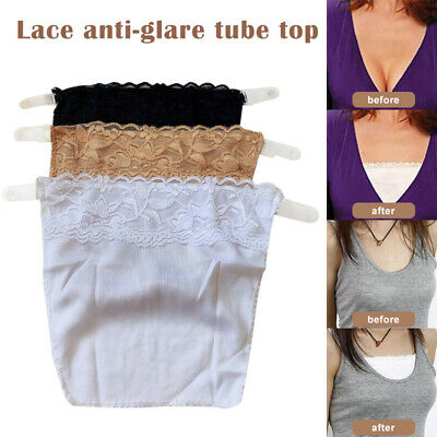 3 In A Pack Cami Secret Clip On Mock Camisole Modesty Parody Panel Easy Clip On • 4.70£