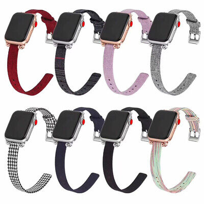 AU21.99 • Buy Watch Band For IWatch Series SE 6 5 4 3 2 Canvas Strap And Case 42/44mm 38/40mm
