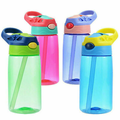 Water Bottle Drinking Cup SportsTravel Water Bottle With Straws Plastic BPA Free • 5.78£