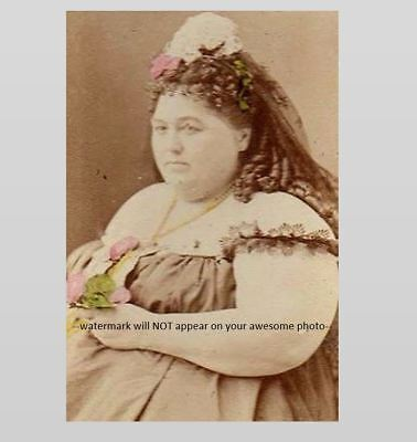 $ CDN4.57 • Buy Vintage Circus Freak Fat Lady PHOTO Hannah Battersby Sideshow Star Scary