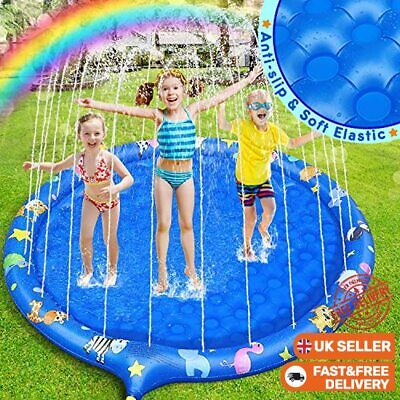 £27.60 • Buy Dookey Sprinkle And Splash Water Play Mat, 68 Inches Inflatable Non-slip Splash