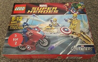 LEGO 6865 Marvel Captain America's Avenging Cycle AVENGERS Brand New Sealed  • 24.99£