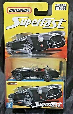 $10 • Buy Matchbox - Superfast - #16 - Black - '65 Shelby Cobra 427 - Limited Edition -New