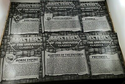 $39.99 • Buy MOTU, He-Man Maps, Lot Of 6 + Checklist, Masters Of The Universe, Etheria + 3