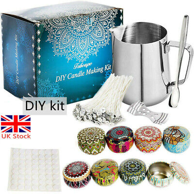 £18.99 • Buy Candle Making Kit Tool DIY Crafts Making Wicks Jars Pouring Pot Scented Candles
