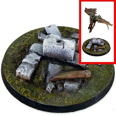 £4.79 • Buy 1x Resin Flying Base -  60mm ROUND (A) - Ruins City Urban Trenches Walls