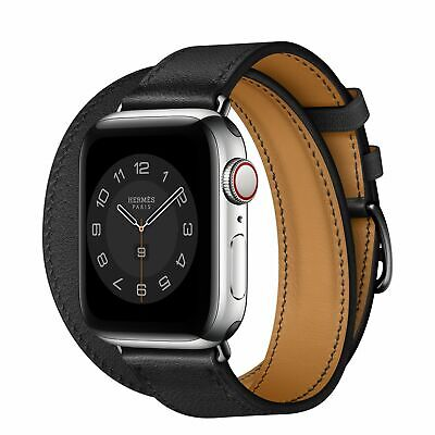 $ CDN1380.88 • Buy Hermes Apple Watch Series 6  Silver Stainless Steel Case With Double Tour $1399